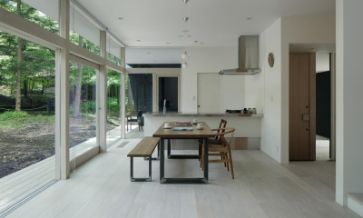036軽井沢Kさんの家 (ダイニングキッチン)