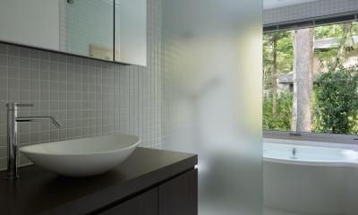 036軽井沢Kさんの家 (洗面脱衣室)