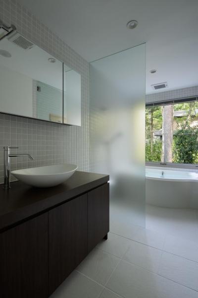 洗面脱衣室 (036軽井沢Kさんの家)