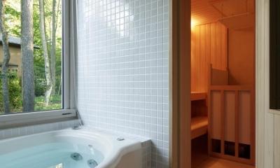 036軽井沢Kさんの家 (浴室)