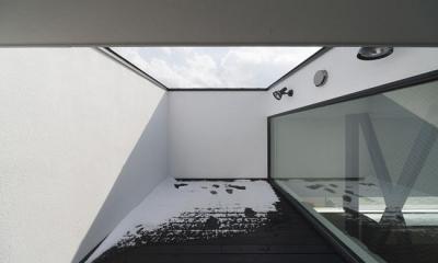 ハコノオウチ06・屋上バルコニーのある家 (壁に囲まれた屋上バルコニー)