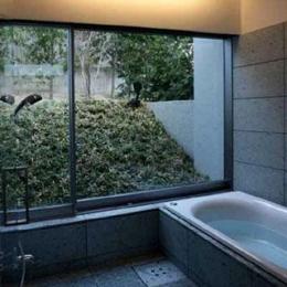 壁層の家 (光をとりこむ浴室)