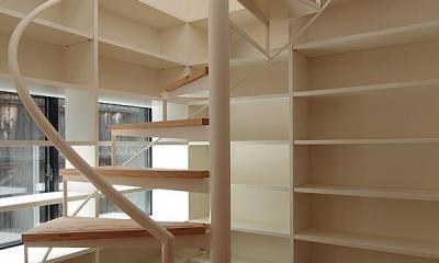 高台寺の家 (螺旋階段②)