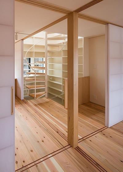 3階寝室(田の字型プラン) (高台寺の家)