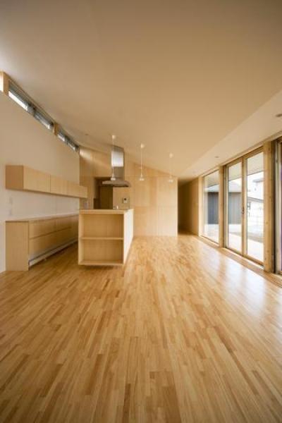 柏林台の家 (06リビング・ダイニング・キッチン)
