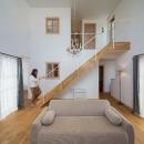 リビングの階段(撮影:石井紀久)