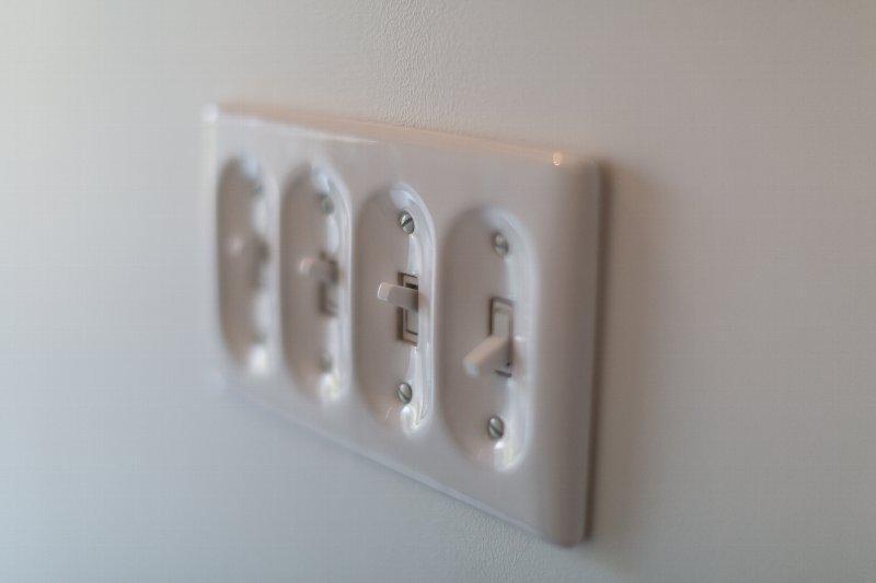 住宅作品1の部屋 スイッチ(撮影:石井紀久)