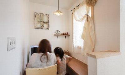パソコンスペース(撮影:石井紀久)|住宅作品1