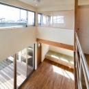 城陽の家の写真 吹き抜け上部からの眺め1(撮影:ワークアップ・坂本雅秀)