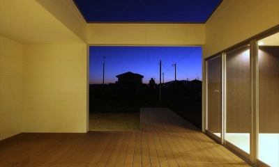テラス-夜景|K4-House