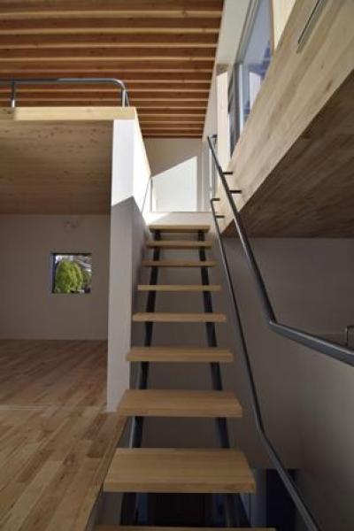 ロフトにつながる階段(撮影:Masahide Iida) (TAK(タック))