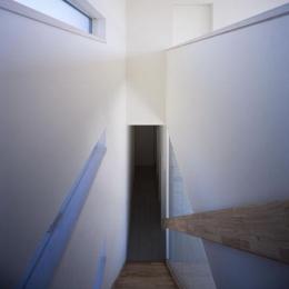 倉敷の家 (ガラスで仕切られた階段(撮影:野村和慎))