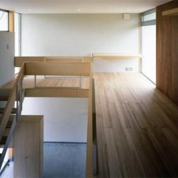 おおつ野の家-階段・ワークスペース(撮影:齋藤さだむ)