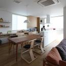 宇ノ気町の家の写真 ダイニングキッチン・勉強スペース