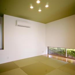 T-House <ガラスルーバーの家> (畳スペース)