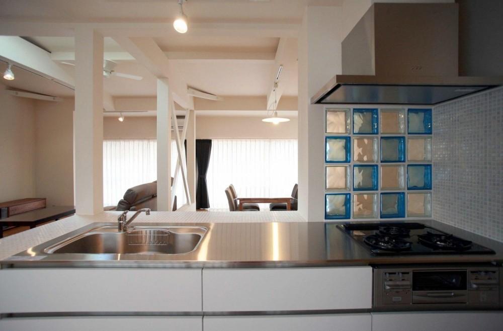 N's residence (キッチンからリビングを見る)