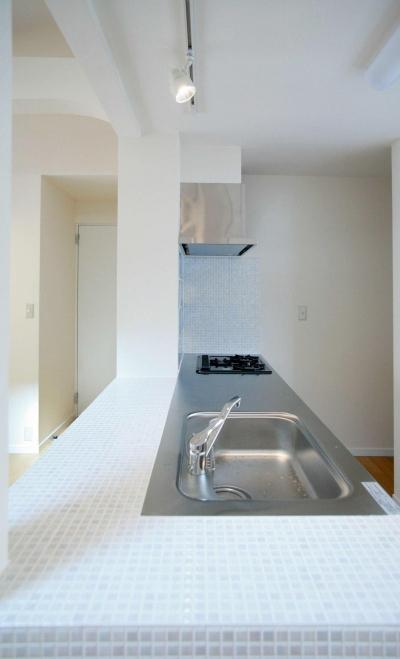 タイルが印象的なキッチン2 (N's residence)