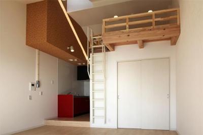 箕面のマンション (ワンルーム-リビング)