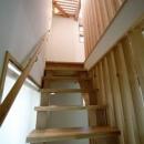 2階から3階に上がる階段(撮影:川北晋夢)