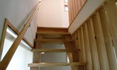 光と風の家 (2階から3階に上がる階段(撮影:川北晋夢))