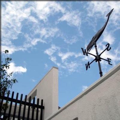 大徳寺の家 (玄関前に風見鶏)
