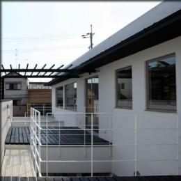 大徳寺の家 (2階テラス)