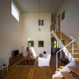 住宅作品2 (光の集まるリビング)