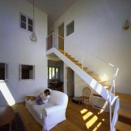 住宅作品2 (リビング内の階段)
