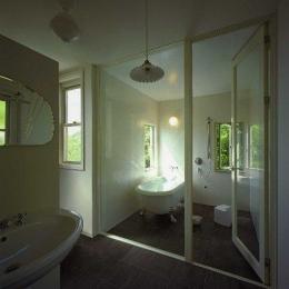 住宅作品2 (ガラス張りの浴室)