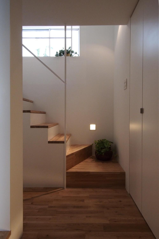 スキップフロアがつくる快適空間 (白金の家) (玄関)