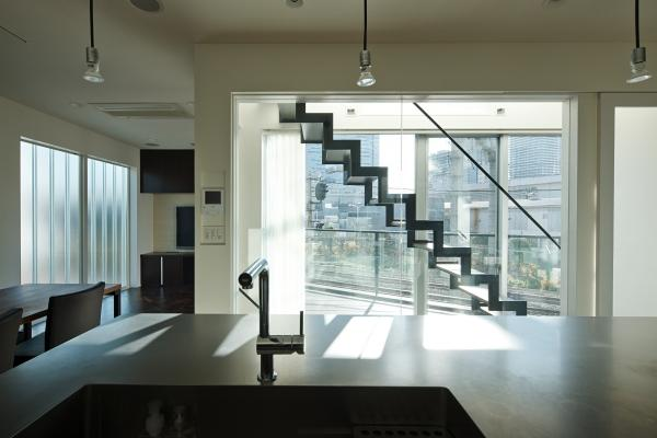 川崎市Ma邸(space fabricでの担当物件)の部屋 キッチンからの眺め