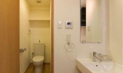 H3-Housing (room-トイレと洗面エリア)
