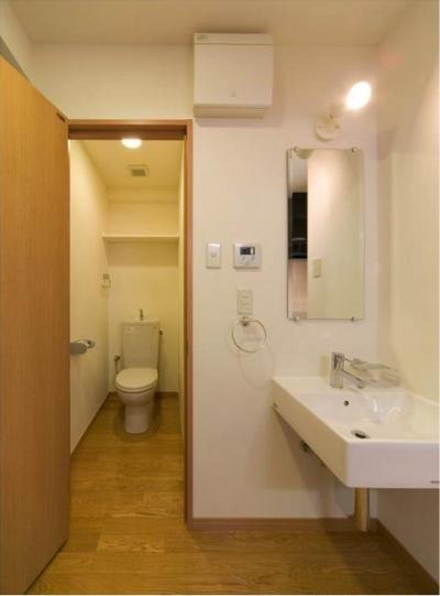 room-トイレと洗面エリア (H3-Housing)