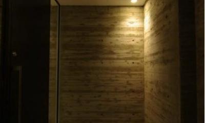 橦木の家 (玄関)