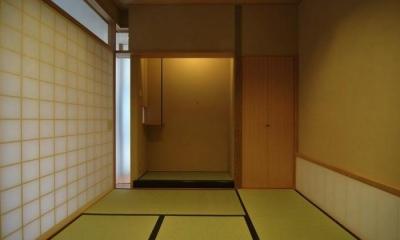 リビング内の和室|橦木の家