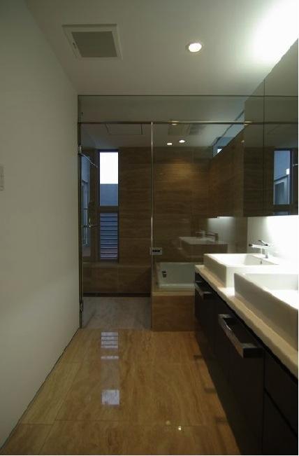 橦木の家の写真 洗面スペース