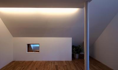 スキップフロアがつくる快適空間 (白金の家) (子供室)