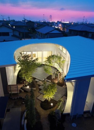 馬蹄屋根の家 (外観)