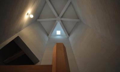 階段室を見上げる|豊田の家