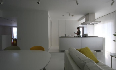 大倉山のマンション_リノベーション (広々LDK-3)