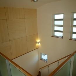 2階から見下ろす (囲みの家)