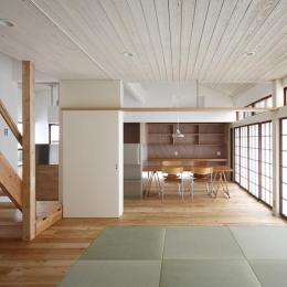 畳スペースのあるLDK-2 (仁川台の住まい)