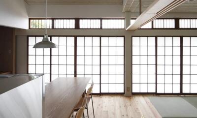 優しい光の差し込む障子戸|仁川台の住まい