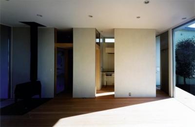 藤沢の家 (リビング1(撮影:Mitsuo Matsuoka))