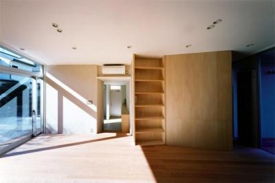 リビング2(撮影:Mitsuo Matsuoka) (藤沢の家)