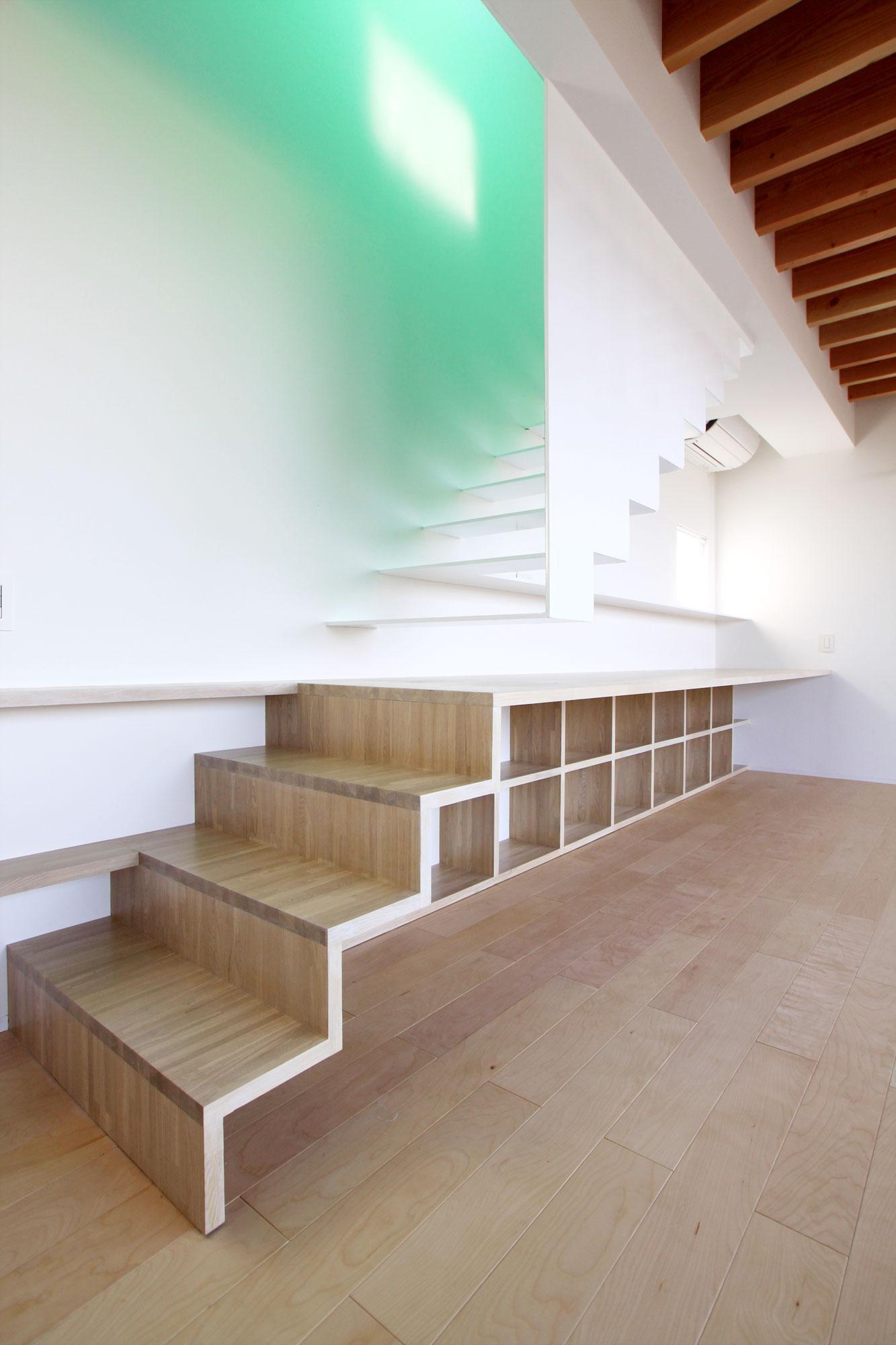 O-House <エンガワとドテのイエ>の部屋 階段・ワークスペース