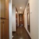 玄関からリビング入口への廊下