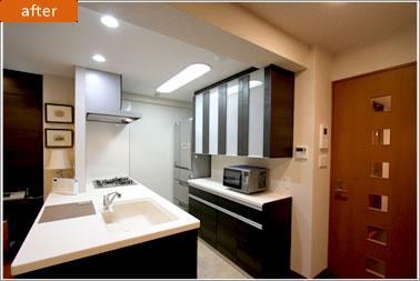 H様邸「マンションまるごとリフォーム」の写真 オープンキッチン