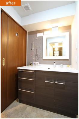 H様邸「マンションまるごとリフォーム」の写真 洗面所