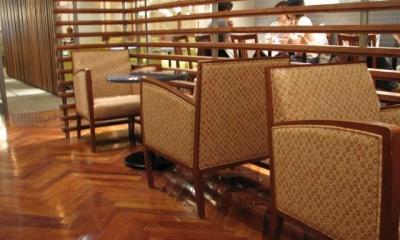本花梨 ヘリンボーン プレミアム 無垢フローリング|店舗・オフィスに使用されている無垢フローリング、積層フローリングの施工事例